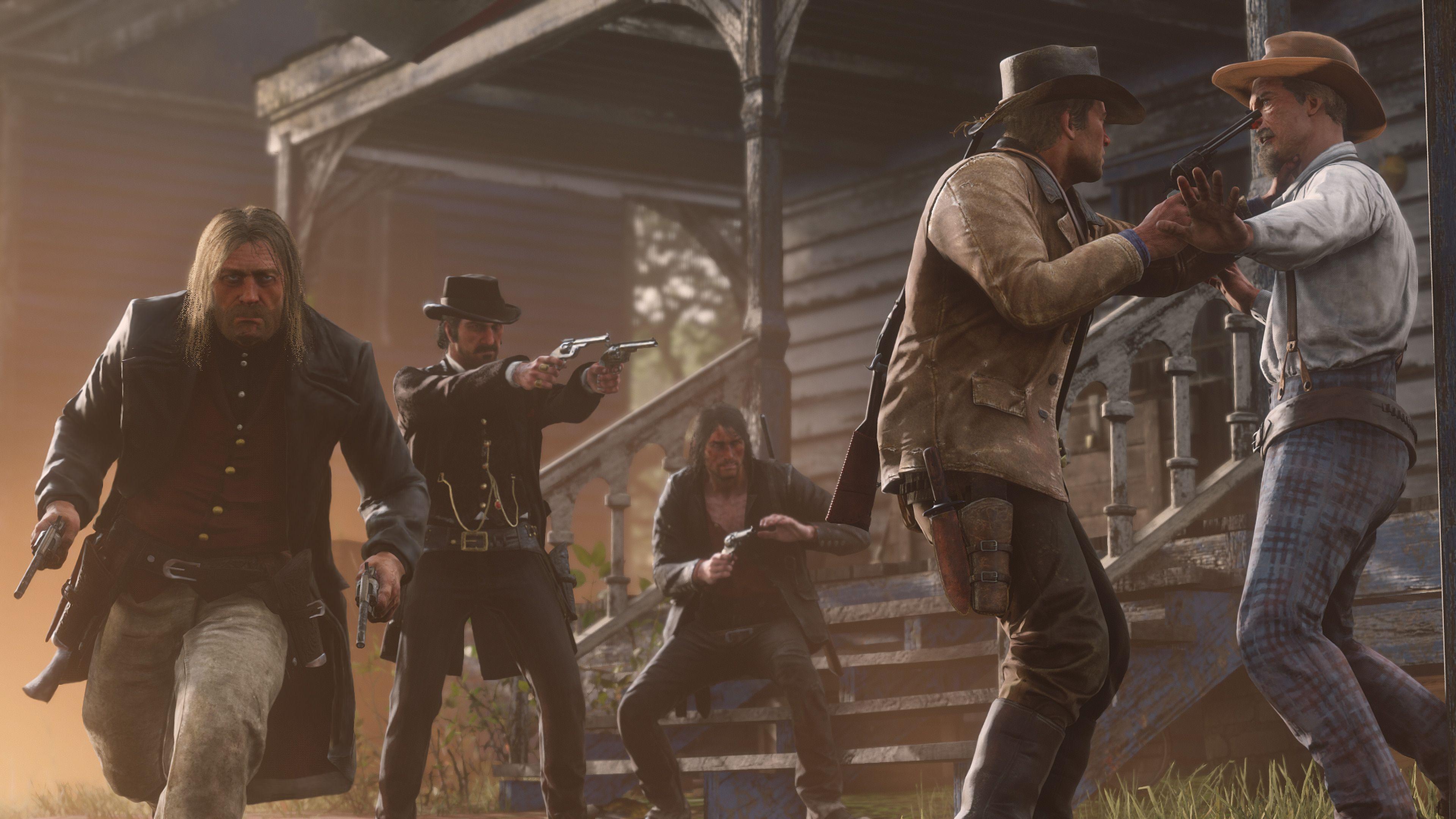 Red Dead Redemption 2 Micah Bell Dutch Van Der Linde John