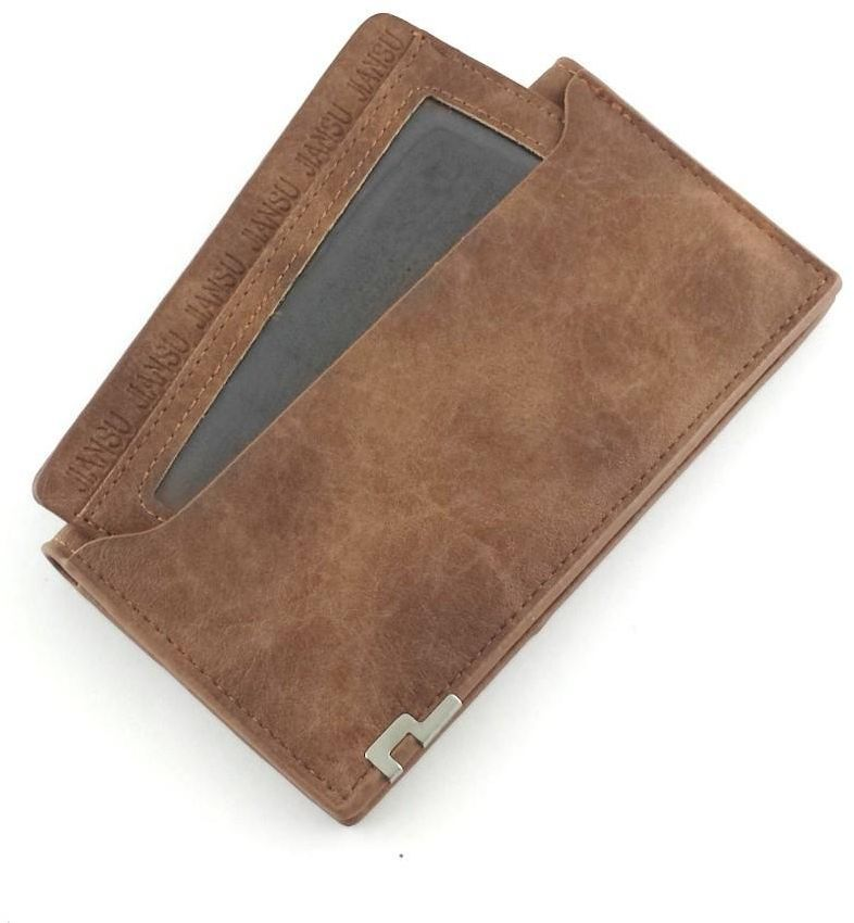 JIANSU Brown Leather For Men - Flap Wallets | SOUQ | Brown