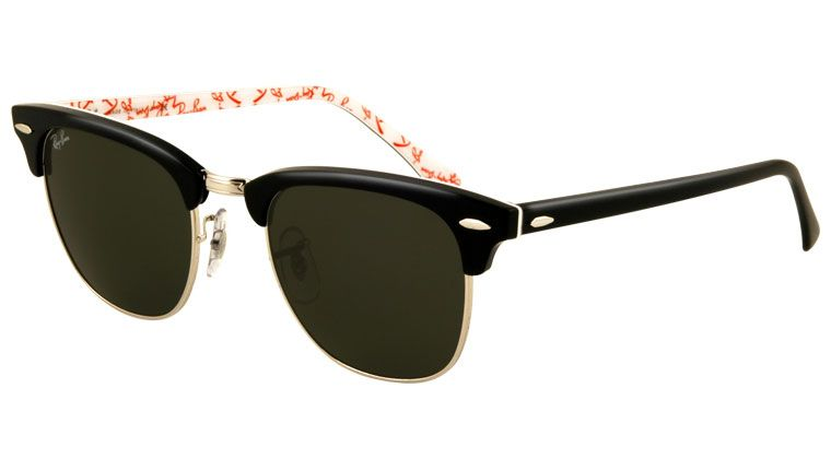 Óculos Ray Ban Clubmaster RB 3016 1017 Preto e Laranja   ÓCULOS 6b30663d15