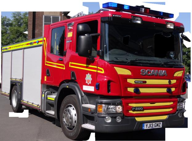 Scania Fire Engine transparent background Emergency