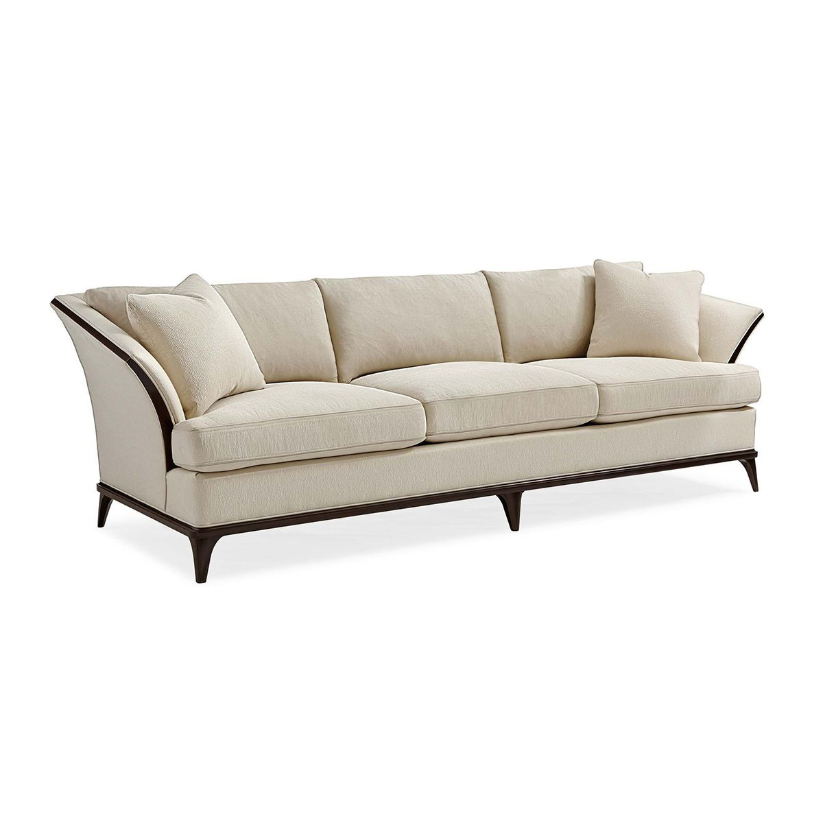 Online Sofa Store: Sofa With Wood Trim Inset In 2019