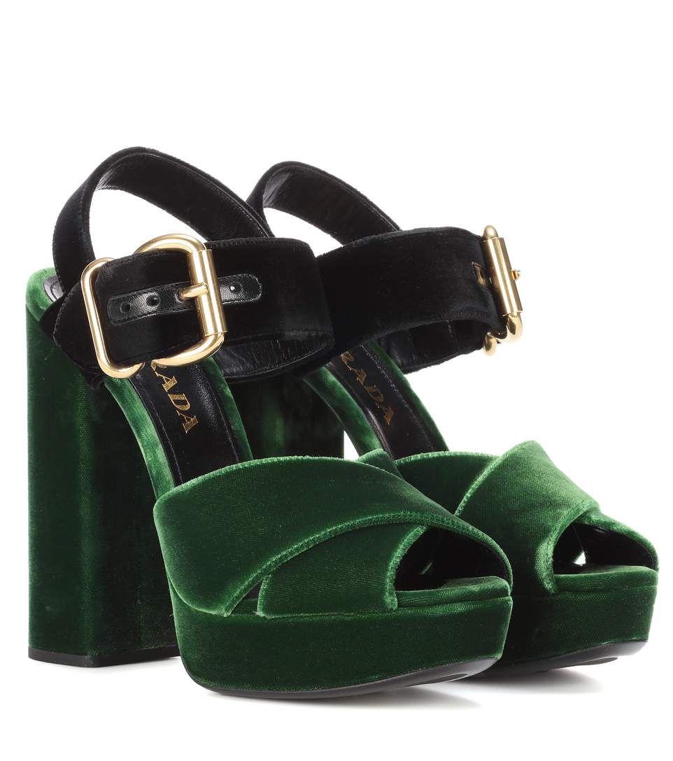 9e59088df1de PRADA Velvet Platform Sandals.  prada  shoes  sandals
