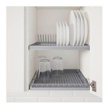 Utrusta Dish Drainer For Wall Cabinet 40x35 Cm Kitchen Shelves Organization Ikea Cupboards Kitchen Drawer Organization