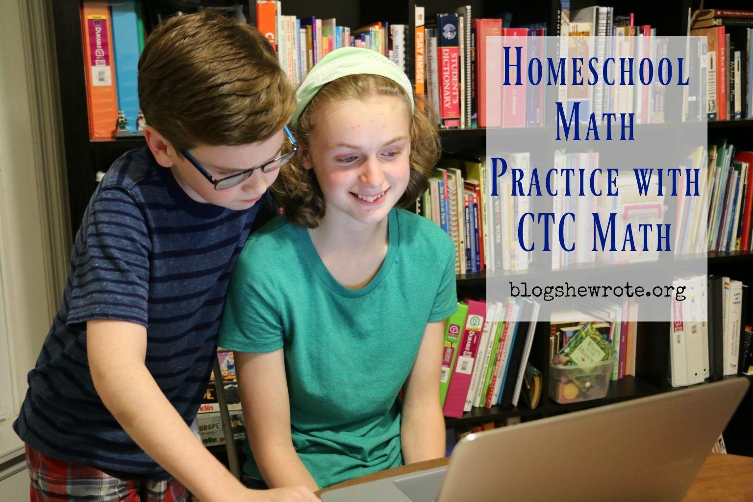 Homeschool Math Practice with CTC Math | Reviews | Pinterest ...