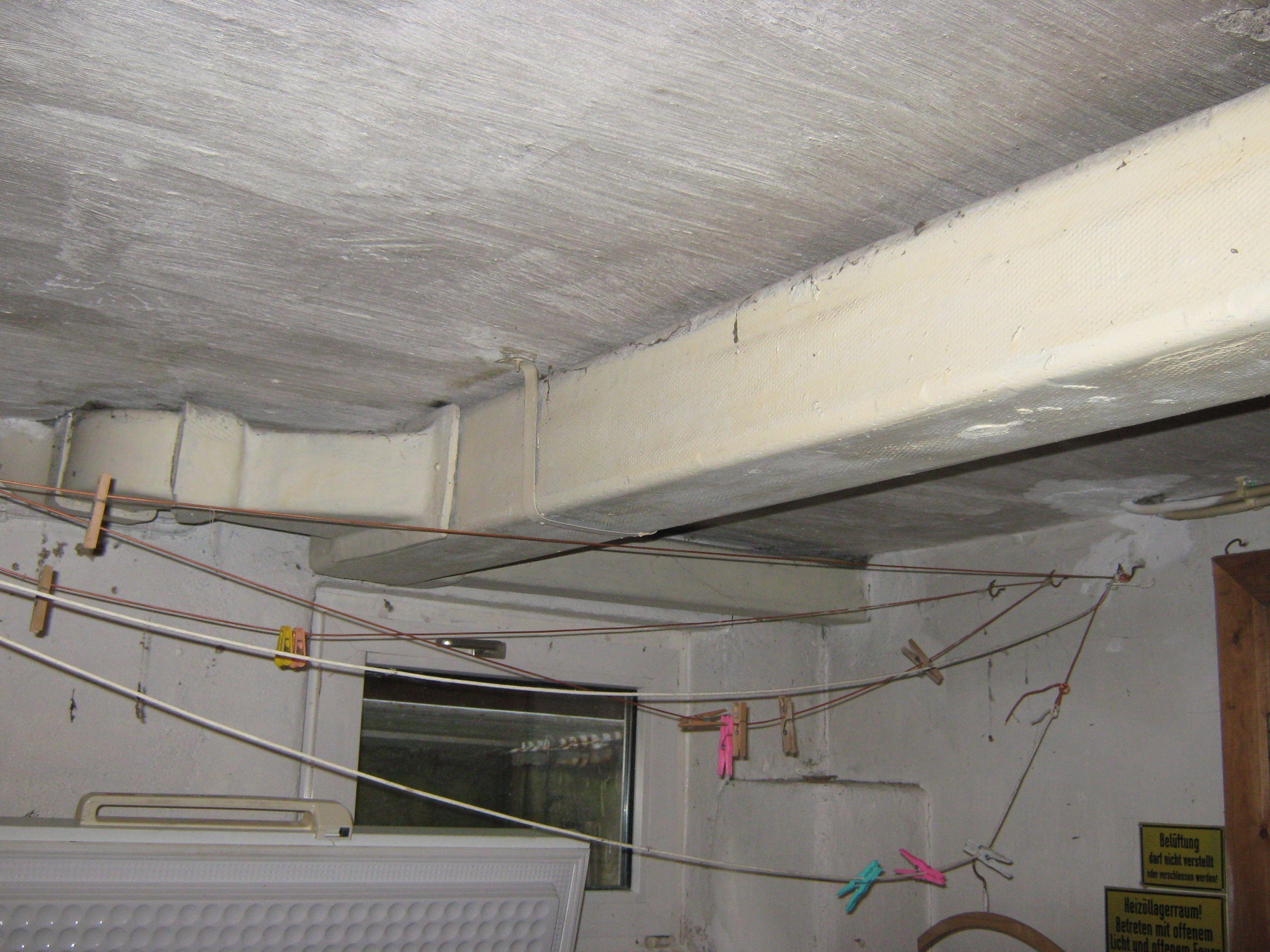 asbestkanal einer warmluftheizung r ckbau und entsorgung asbest pinterest haus bau und. Black Bedroom Furniture Sets. Home Design Ideas