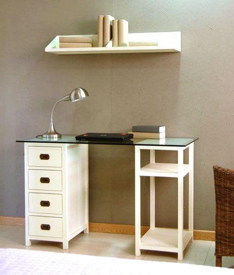 mesa escritorio colonial blanco roto material madera de teca este proveedor utiliza madera de teca