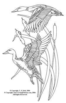 Flying Ducks Pattern Package