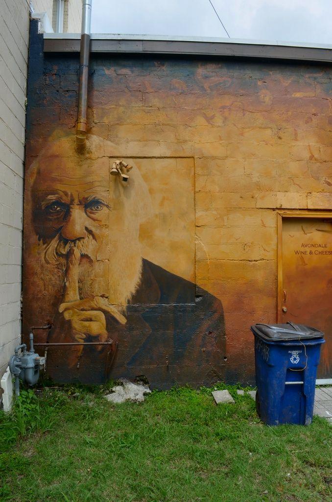 Street Art Darwin This Is So Great Love How He S Sort Of Hiding
