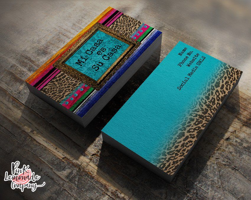 Mi Casa Serape business card   Business cards and Products