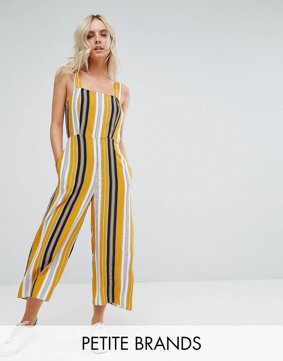 30105ec68c New Look Jumpsuit, Yellow Dress, Yellow Jumpsuit, Striped Jumpsuit, Summer  Fashion Outfits