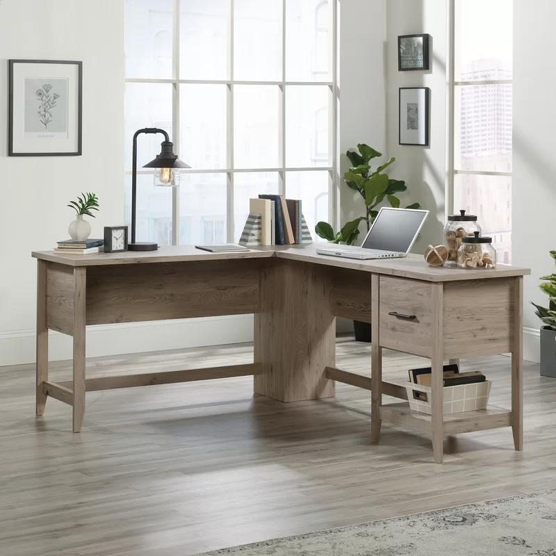 Cletus L Shape Computer Desk In 2020 L Shaped Executive Desk L