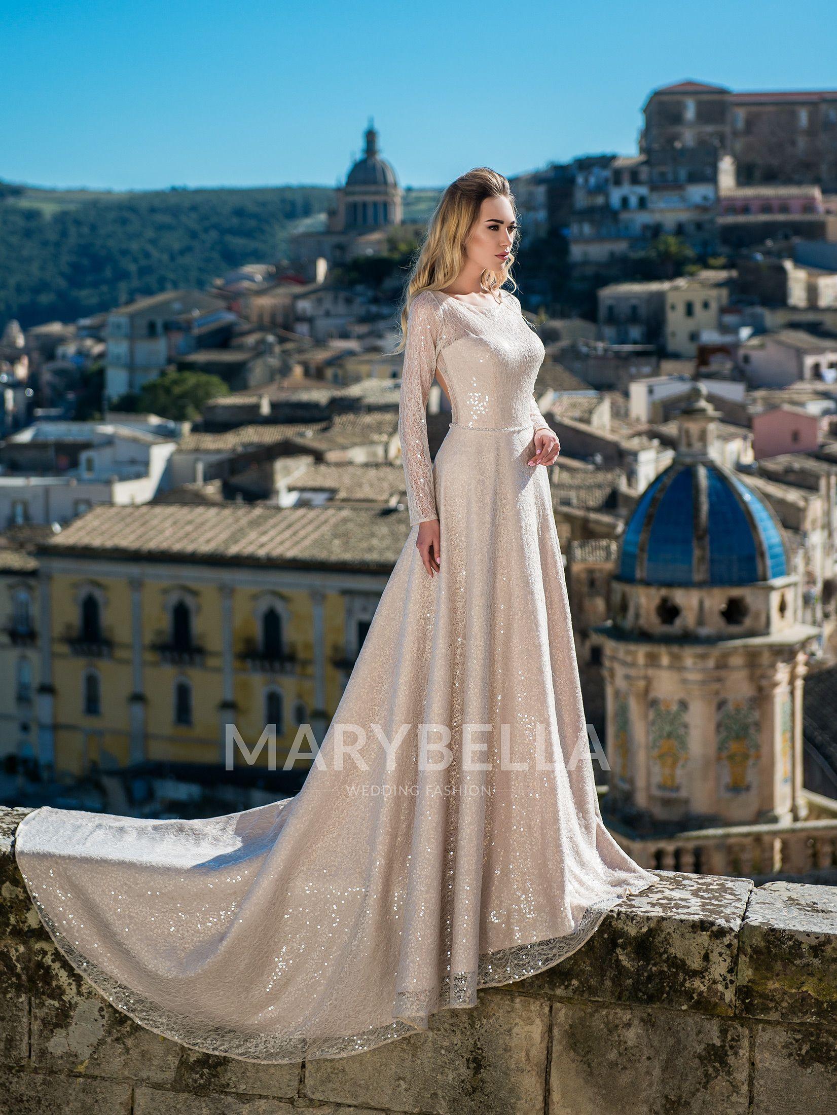 Lace wedding dress under 300  Marbella wedding dress in Charmé Gaby wedding dresses boutique in