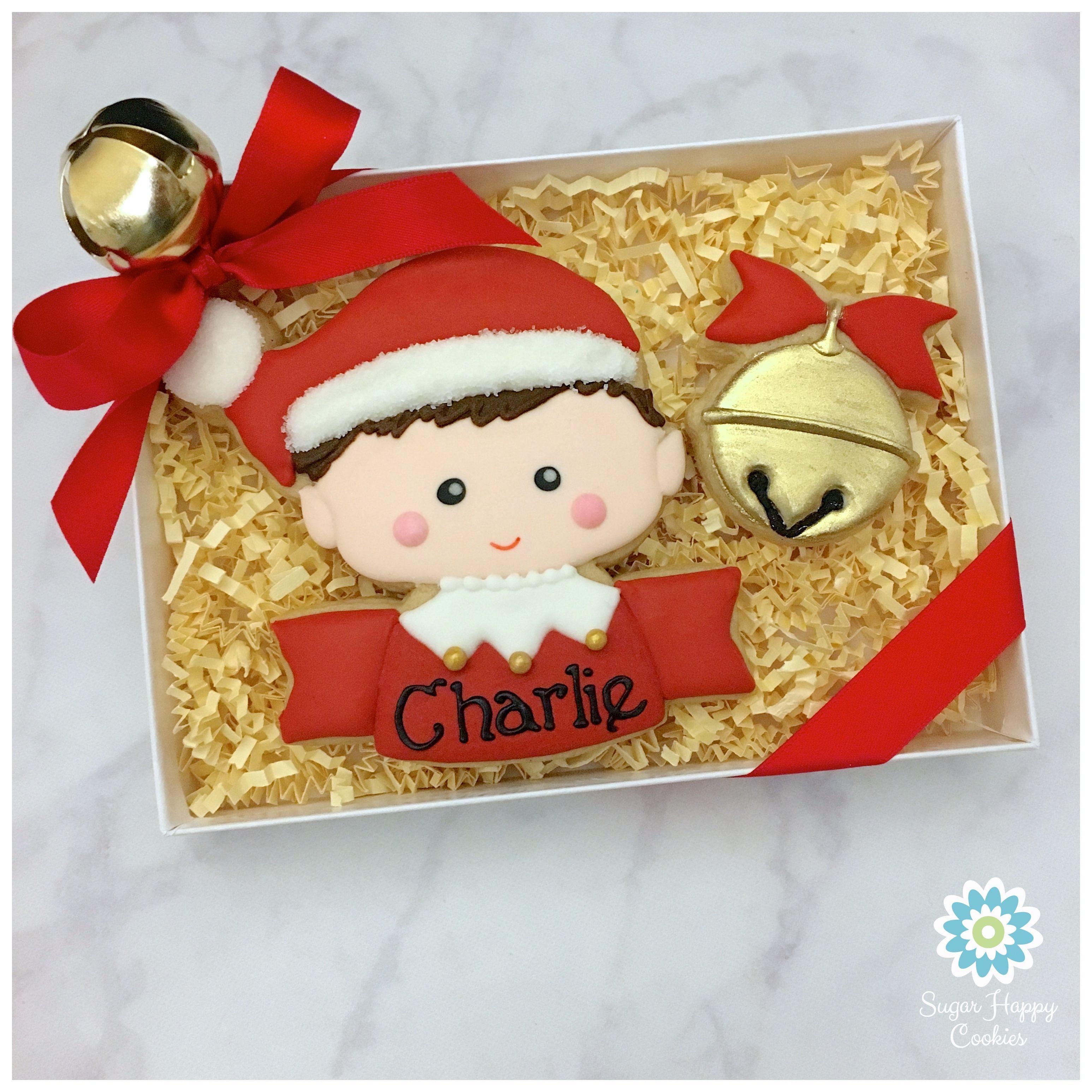 Elf Gift Box, Sugar Cookie, Jingle Bell Cookie, Elf On