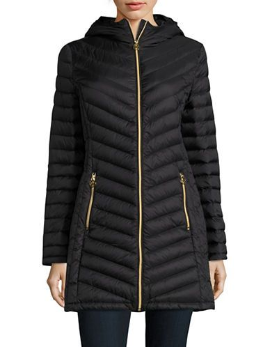 c437cec6b Michael Michael Kors Plus Packable Down Puffer Coat Women's Black 2X ...