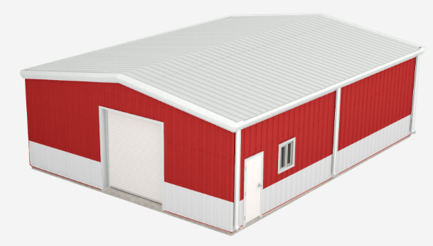 Best Walls Crimson Red Roof Polar White Trim Polar White 640 x 480
