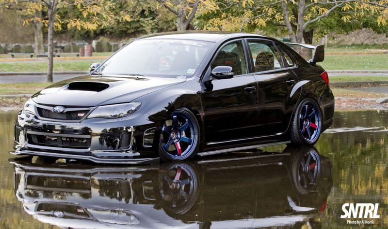 Subaru Impreza Wrx Sti Black Volk Te37sl Favorite Cars Pinterest