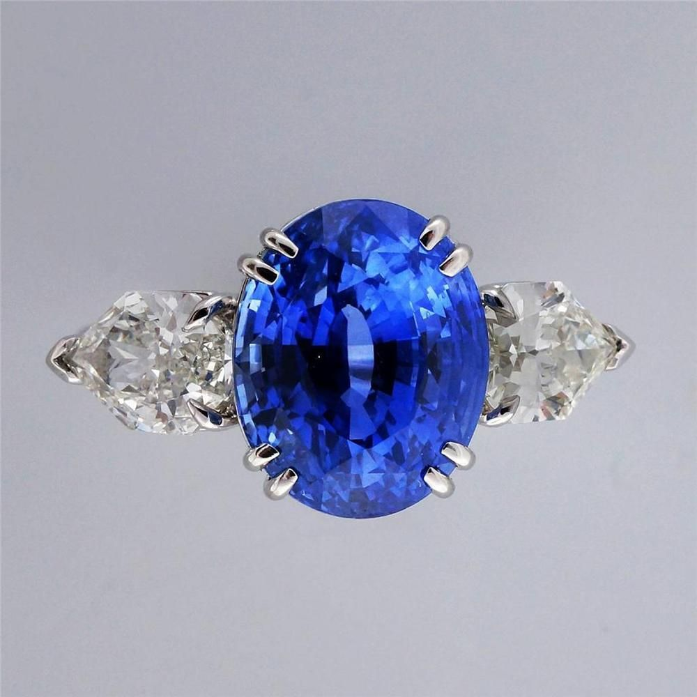 ca968dfc1 Vintage Estate 6.48ct Natural Cornflower Blue Sapphire Platinum Diamond  Ring in Jewelry & Watches, Vintage & Antique Jewelry, Other Vintage Jewelry    eBay