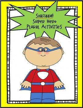 Super Hero Plural Activities | Hero plural, Plural nouns and ...