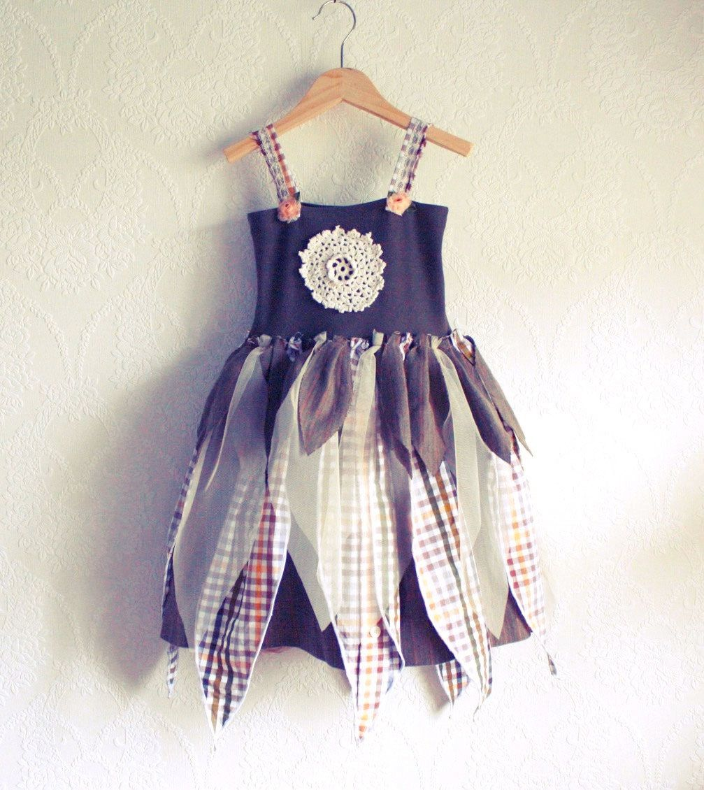 Upcycling Clothes Girls Fairy Dress 3t Upcycled Childrens Clothing Olive Green