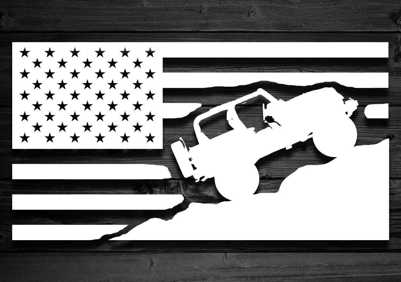 American Flag Sticker Car Decal Vinyl Multiple Colors /& Sizes Jeep Truck Laptop