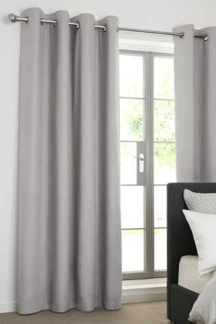 Buy Cotton Blackout Eyelet Curtains From The Next Uk Online Shop Grey Curtains Bedroom Curtains Cool Curtains