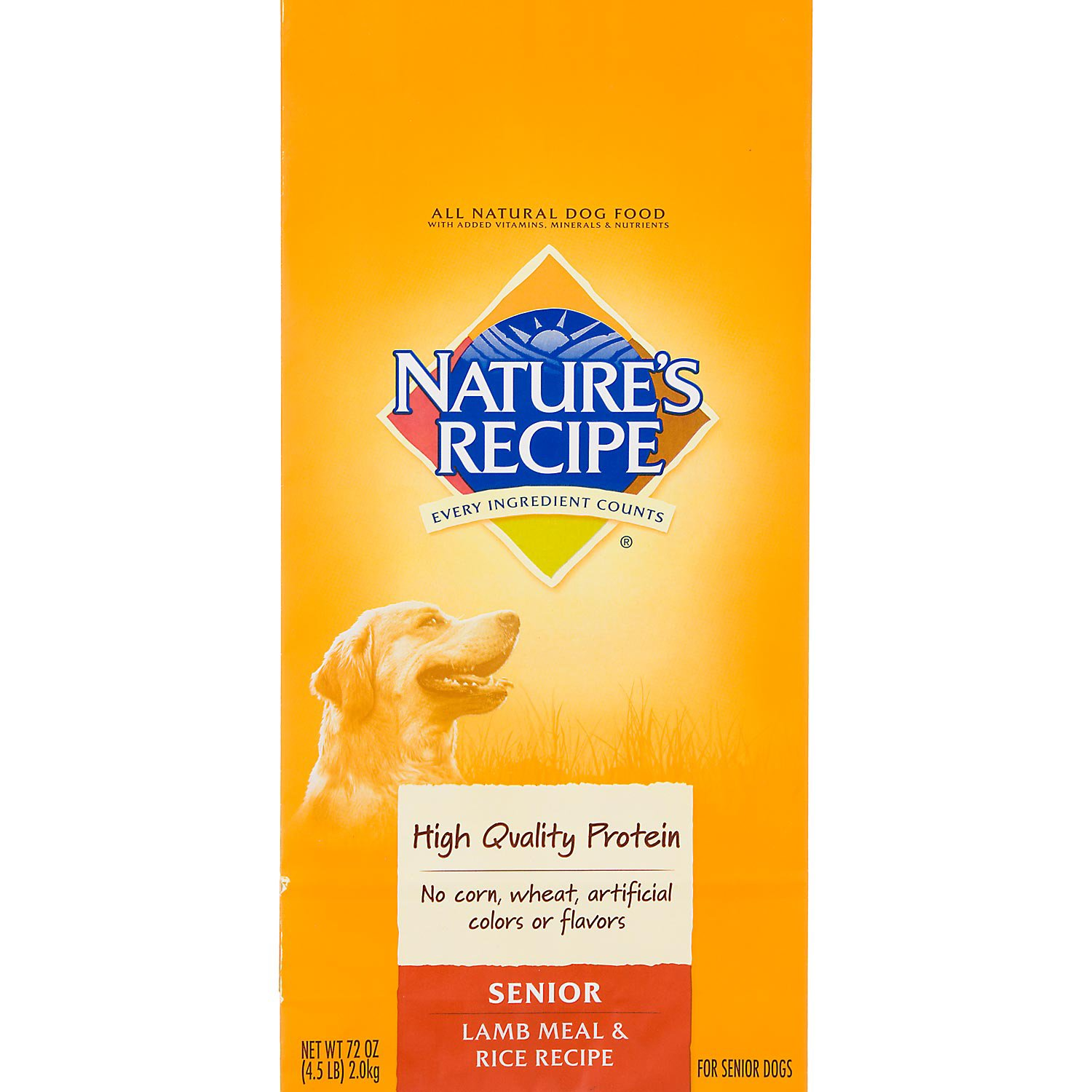 Nature S Recipe Senior Lamb Rice Formula Dog Food In 2019
