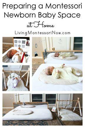 Preparing a Montessori Newborn Baby Space at Home images