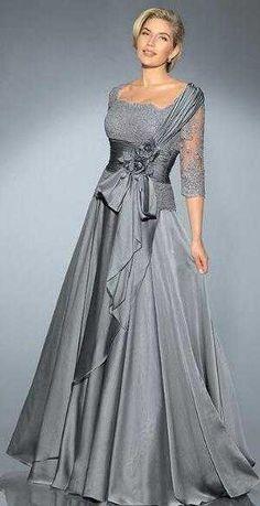 Vestido de bodas de prata vermelho