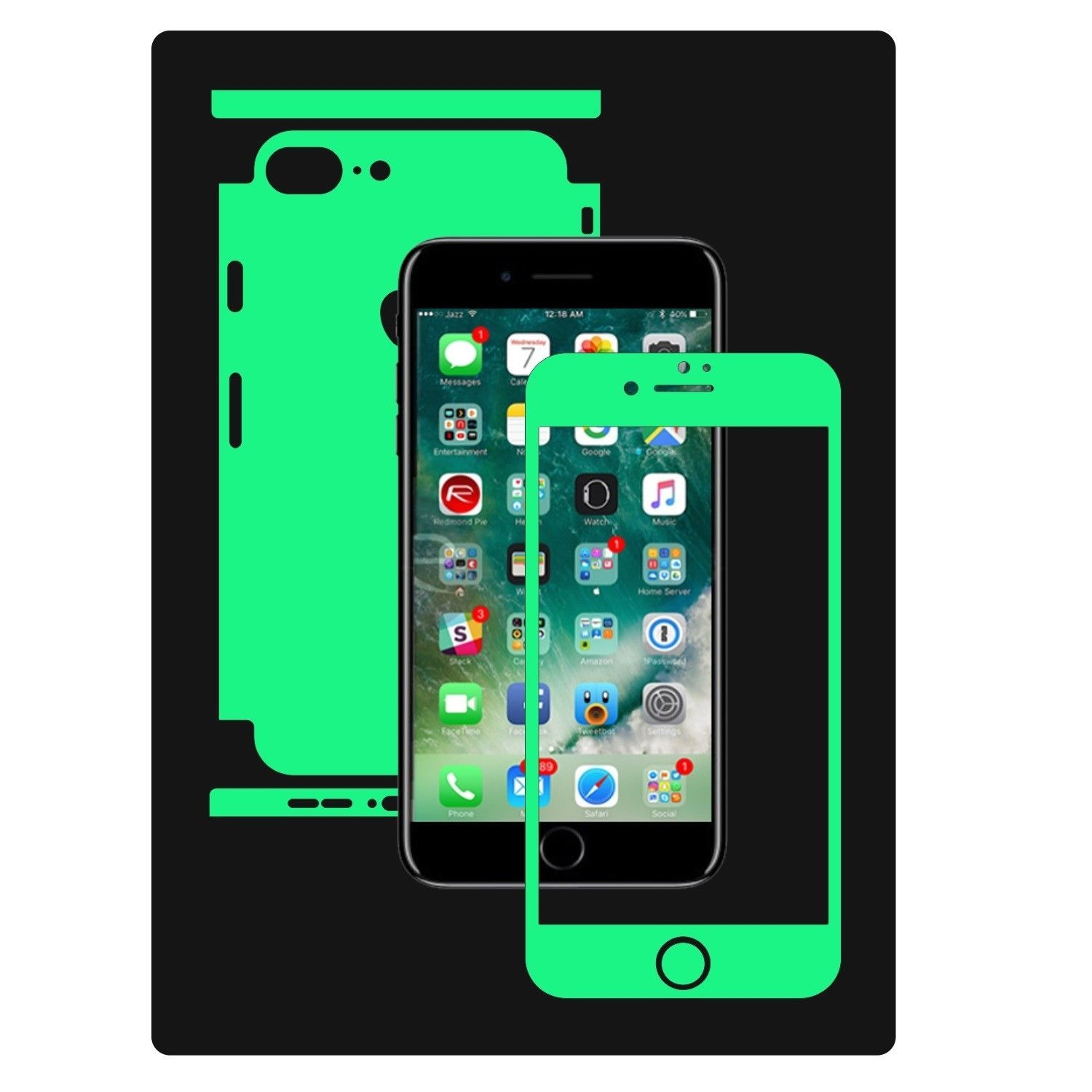 competitive price 8badf 00eb0 Glow in the Dark Skin Protector,Full Body Vinyl Decal,case Wrap ...