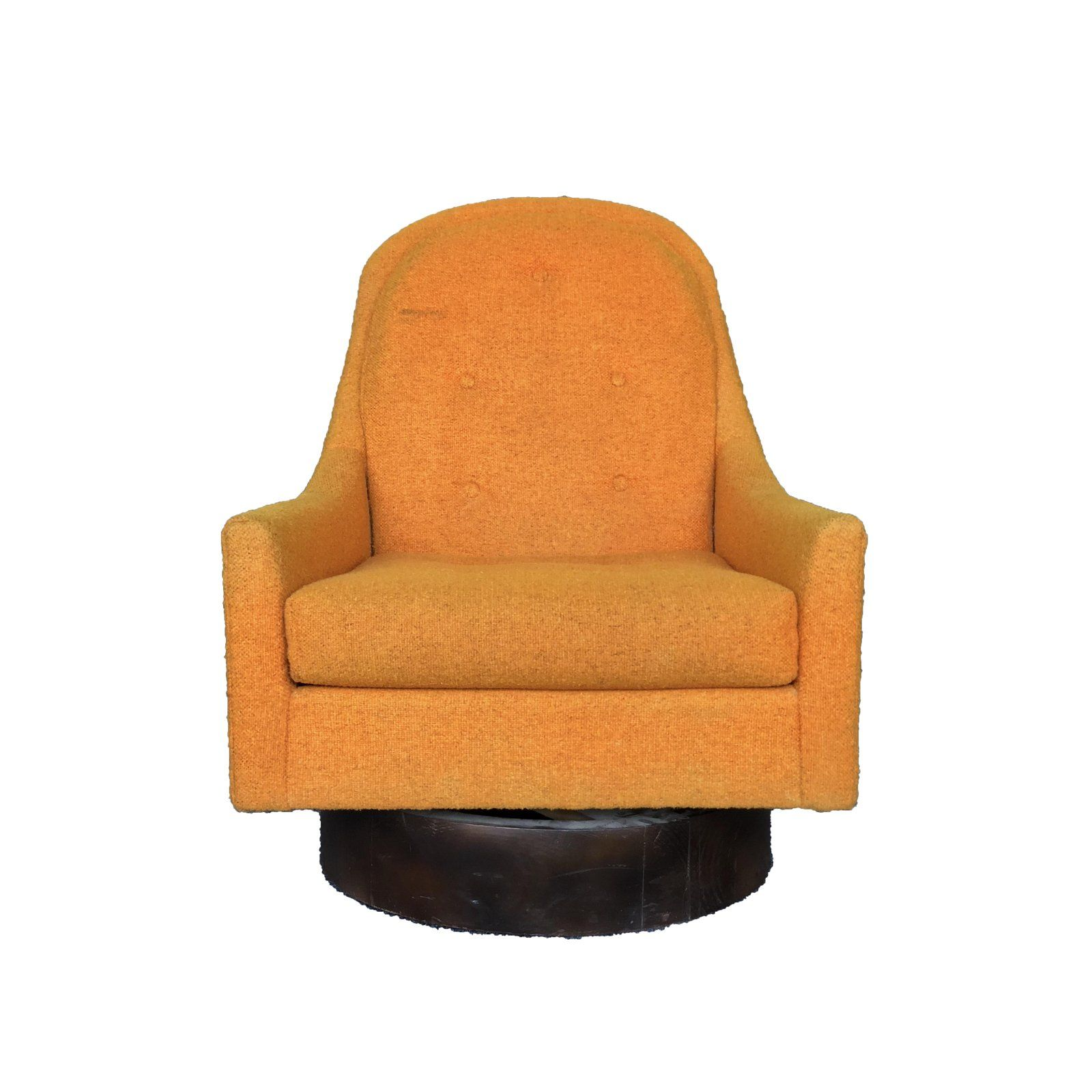 Outstanding Mid Century Modern Milo Baughman Style Floating Orange Onthecornerstone Fun Painted Chair Ideas Images Onthecornerstoneorg