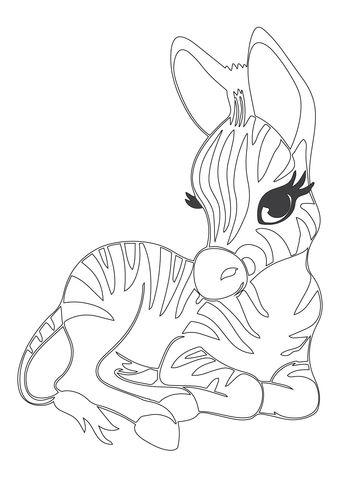 Coloriage Gratuit Zebre.Coloriage Adorable Bebe Zebre Categories Zebres Coloriages