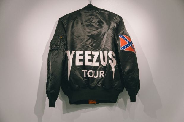 From Spin Com Yeezus Tour Pop Up Shop Chicago Confederate Flags A White Jesus Punk Merchandise From Producer Rapper Kany Kanye West Yeezus Kanye West Photo