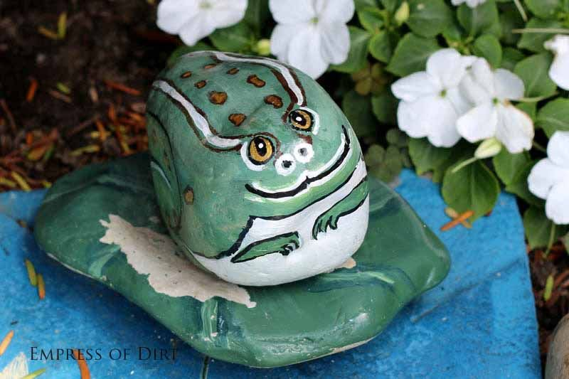 How to paint garden art rocks and stones | empress of dirt at #eBay