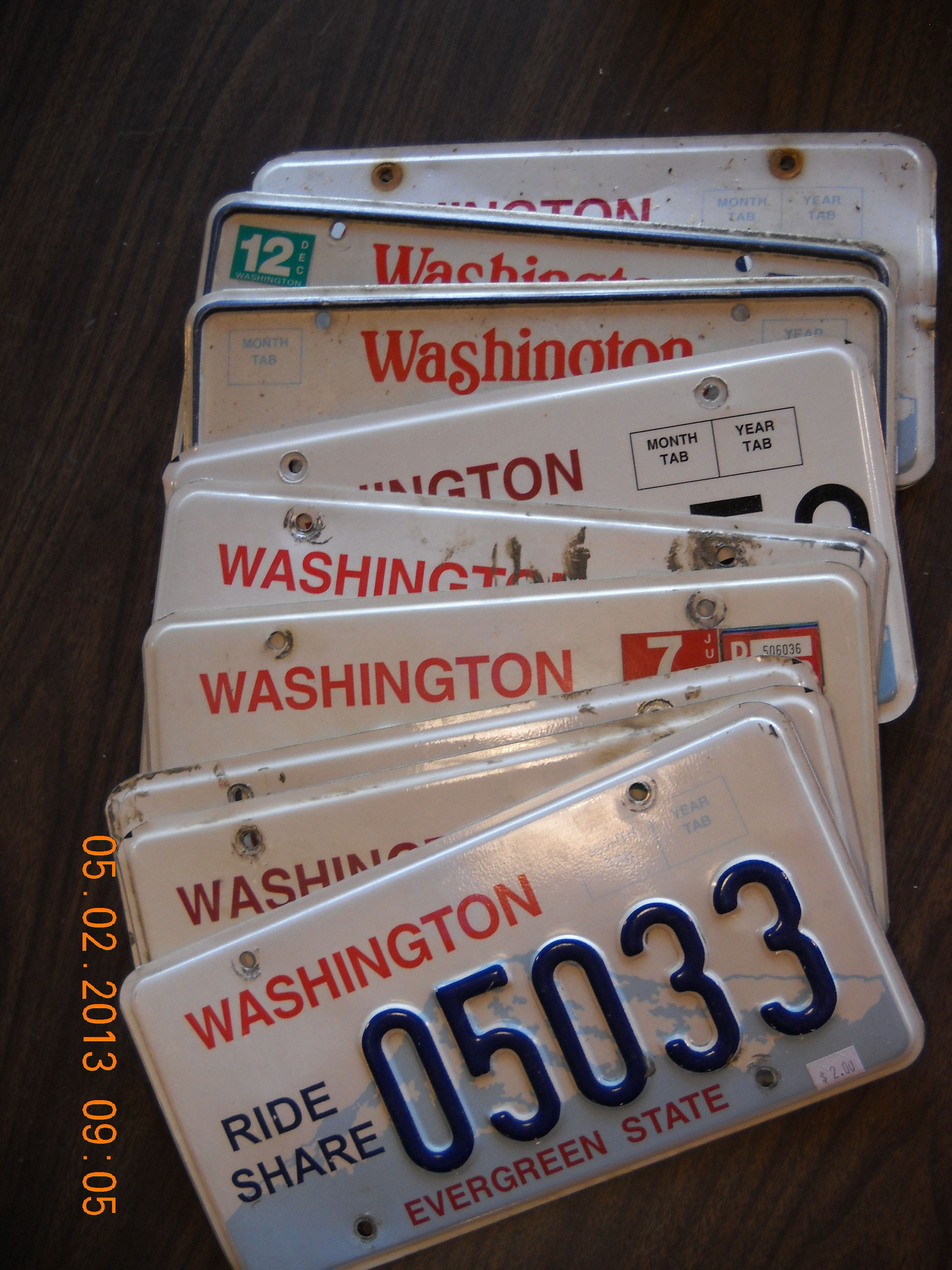 A recent history of Washington state license plates