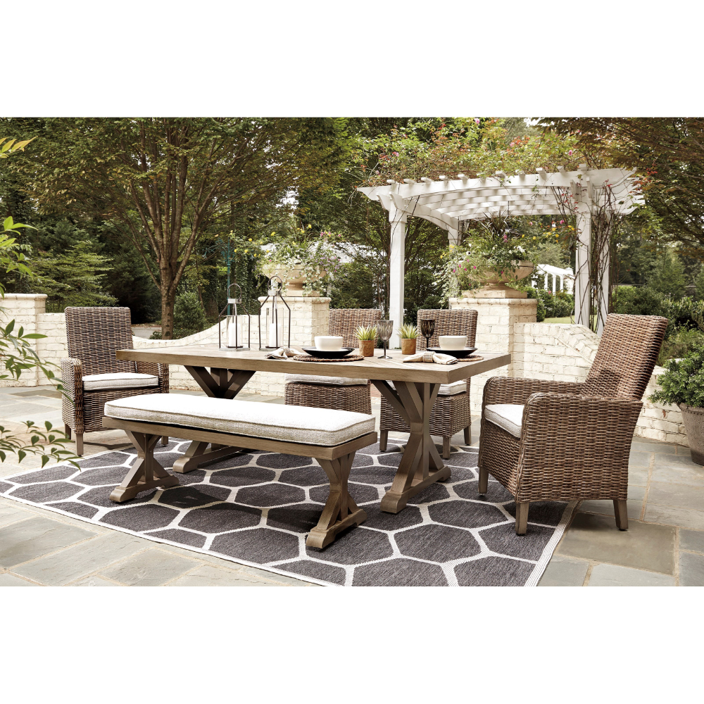 Beachcroft 6 Piece Outdoor Dining Set By Ashley Furniture Signature Design At Del Sol Furniture In 2021 Outdoor Dining Set Outdoor Dining Furniture Outdoor Dining
