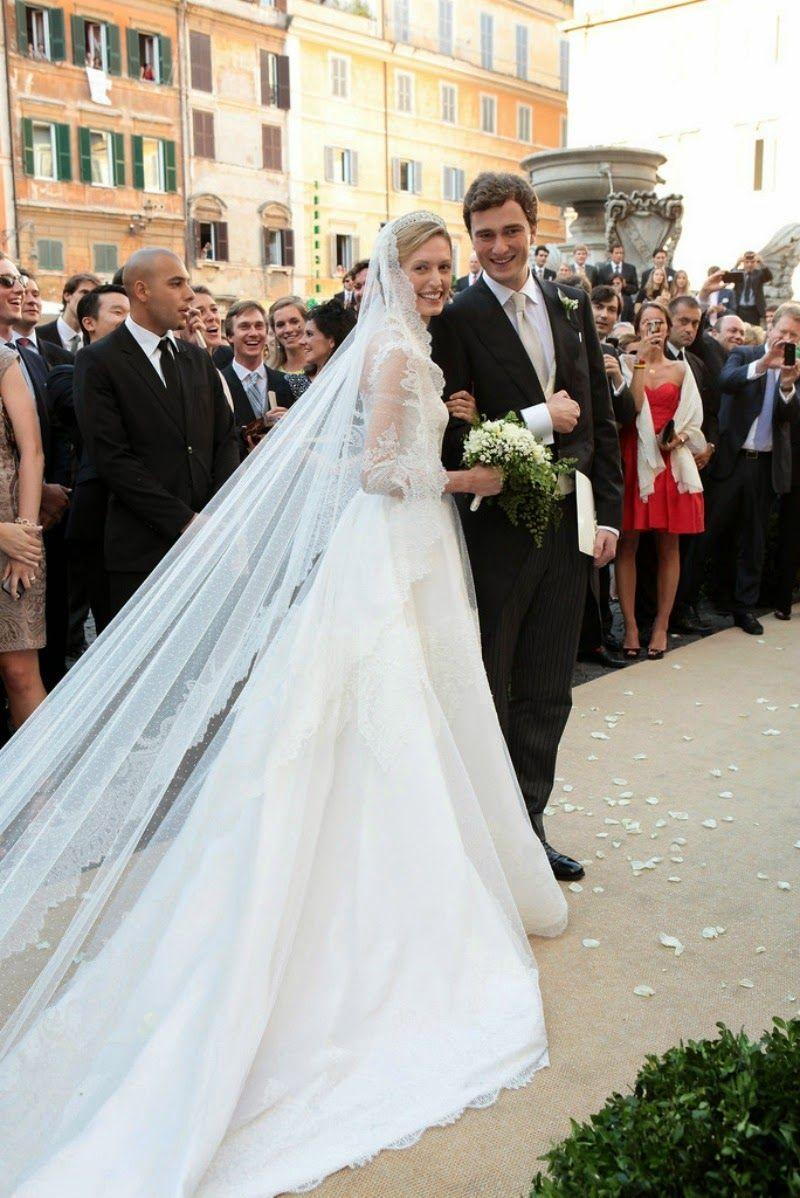 Elisabetta Maria Rosbach Von Wolkenstein In Valentino Couture At Her Wedding To Prince Amedeo Of Belgium