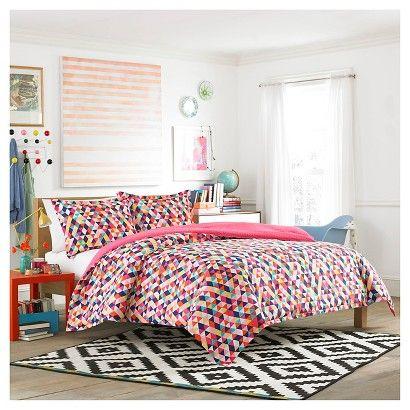 teen vogue kaleidoscope comforter set red red