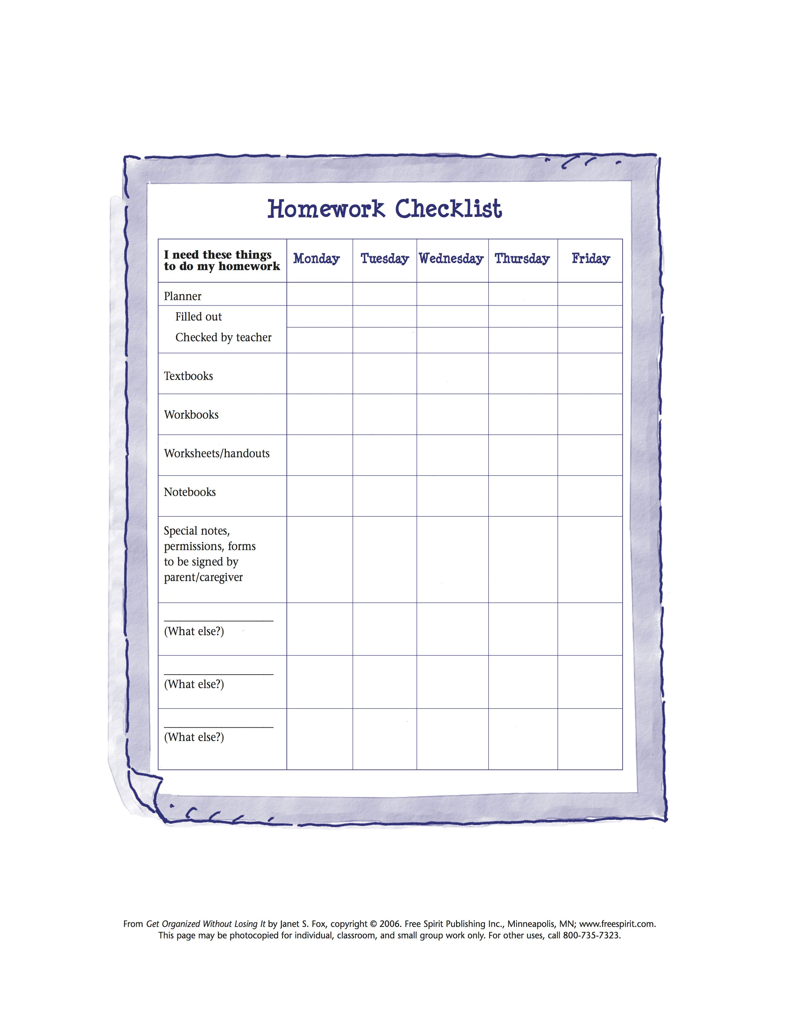 Free Printable Worksheet To Help Kids Organize Tools