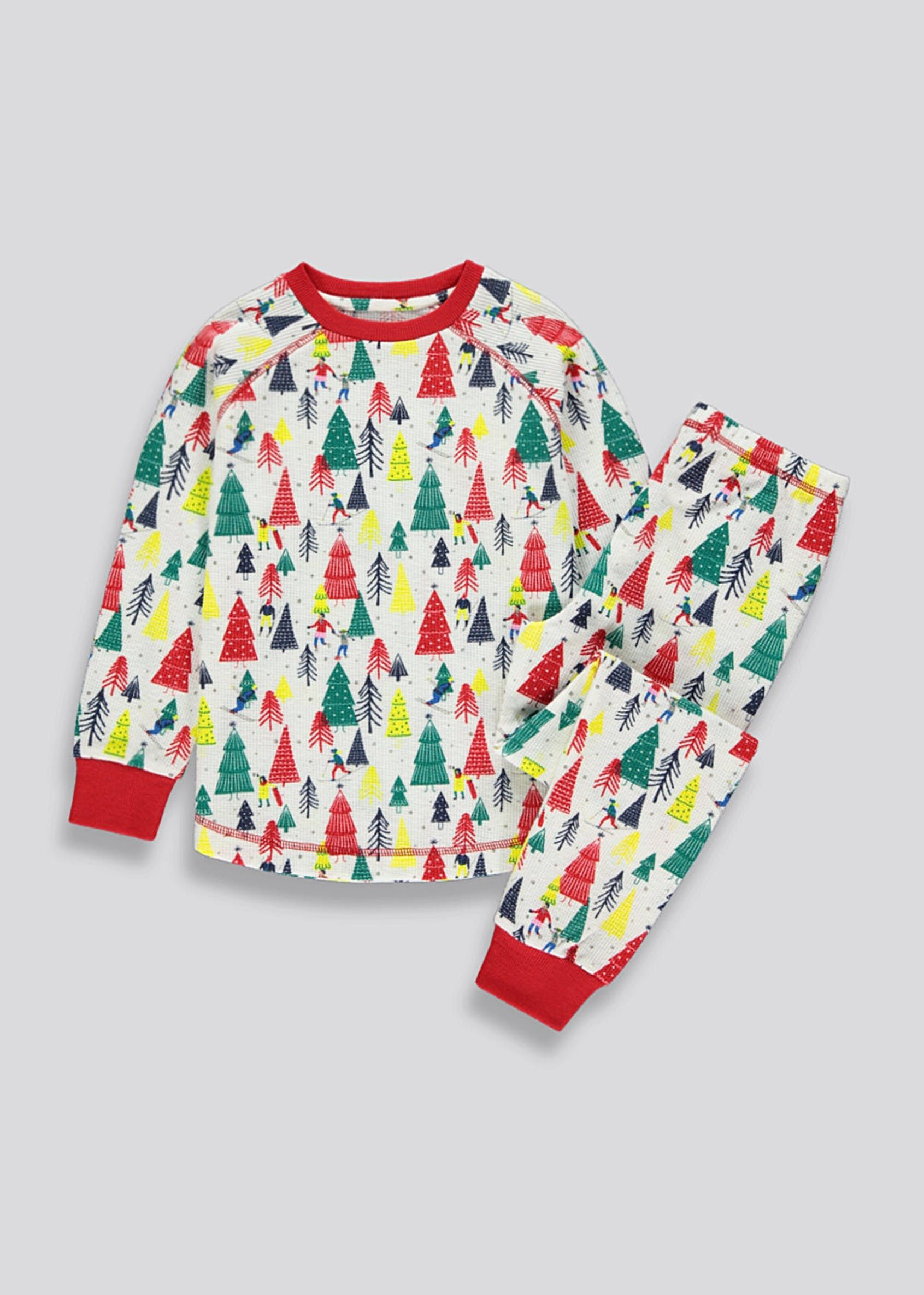 Girls Christmas Tree Pyjama Set (213yrs) Multi in 2020