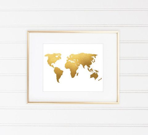 World map print world map art faux gold foil gold foil print world map print world map art faux gold foil gold foil print gumiabroncs Images