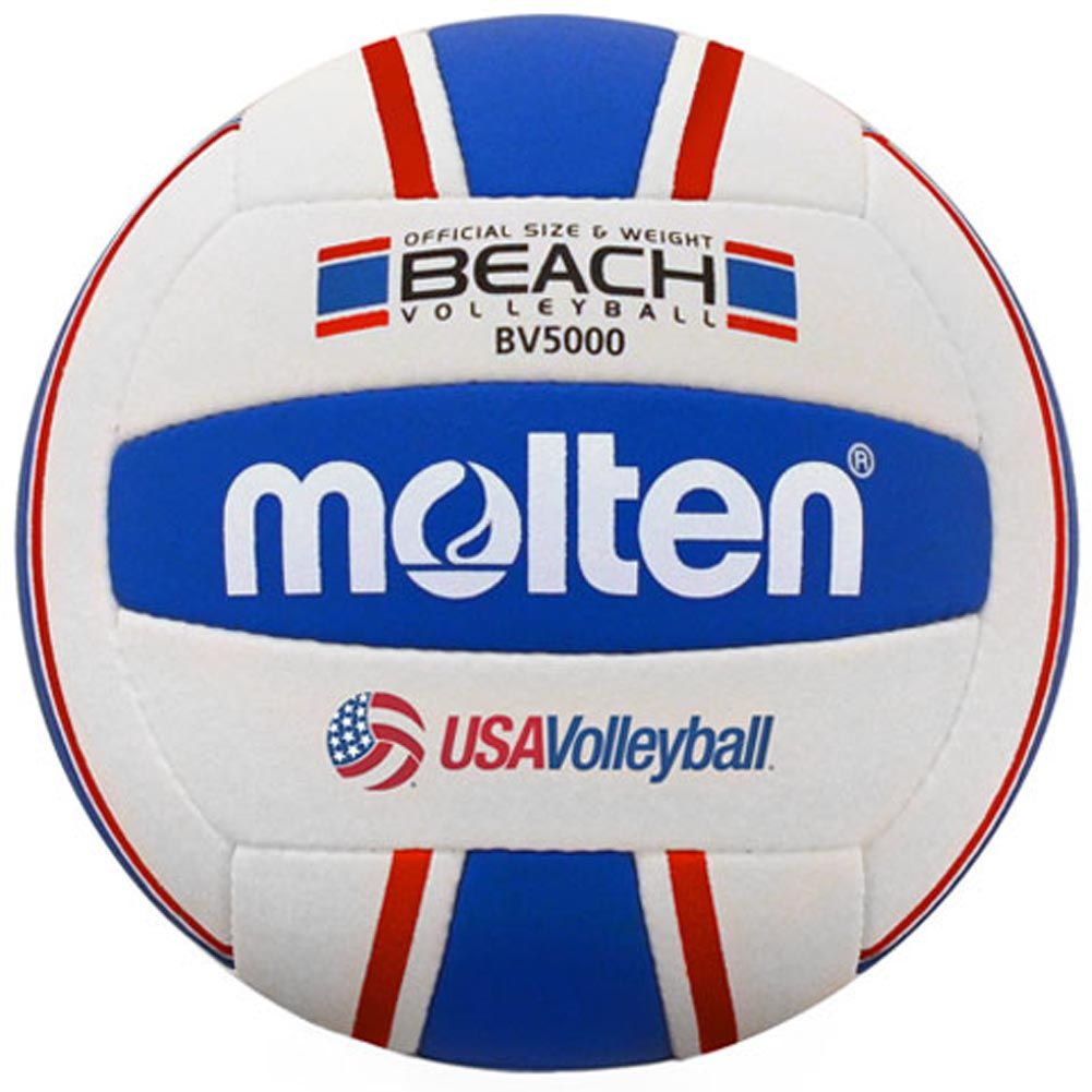 Molten Volleyball Brings The Red White And Blue Back To The Beach With This Usa Volleyball Sponsored Beach Ball Volle Beach Volleyball Volleyballs Volleyball