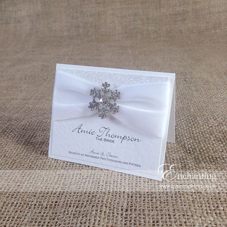 The Elsa Collection - Luxury Place Card | Featuring white velvet ...