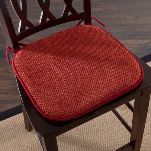 Memory Foam Burgundy Dining Chair Cushion