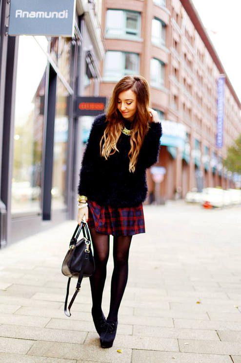 #Tartan #Skirt - Flirting With Fashion