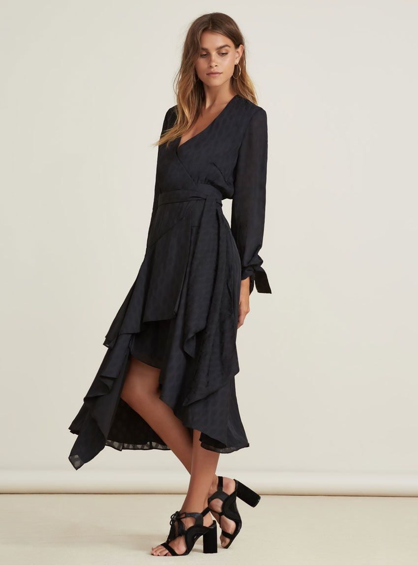 76c3217f7b Finders Keepers Foundations Midi Dress – Black