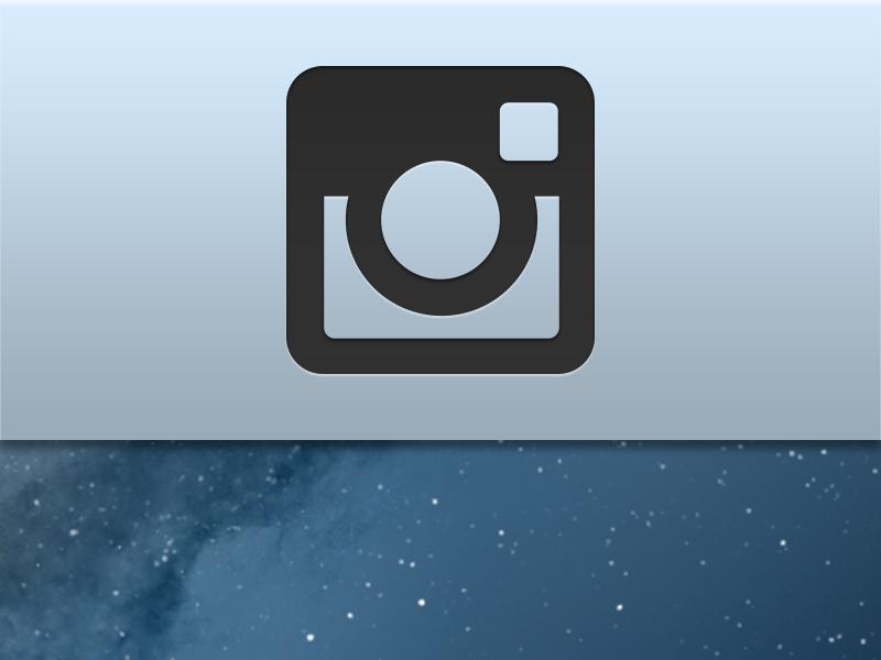 Instagram Menu Bar Icon by Jared Erondu