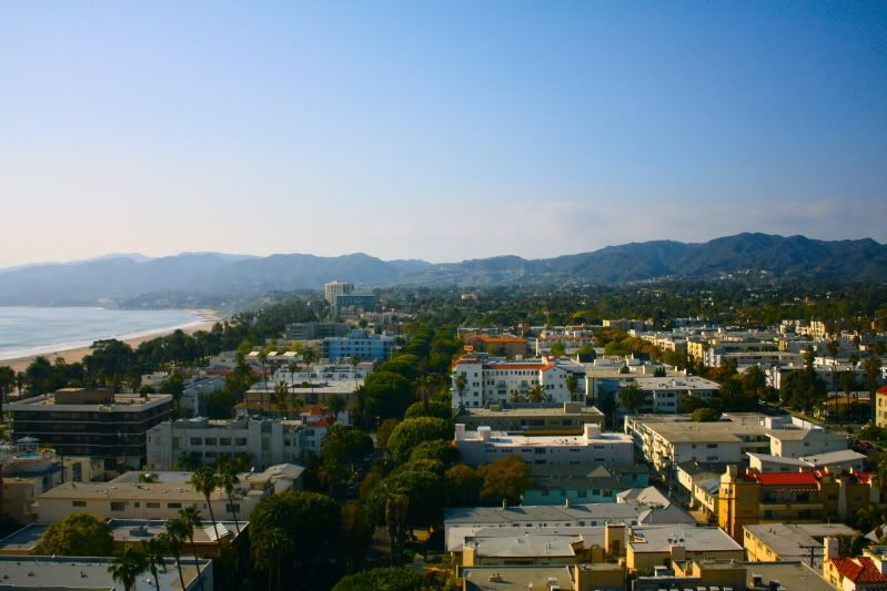 View from penthouse bar of The Huntley hotel in Santa Monica