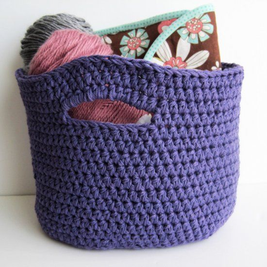 This basket is perfect for storing your crochet projects. FREE and ...