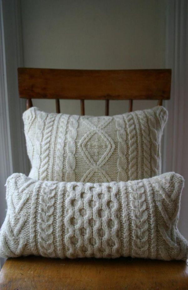 aran knit cushions by candy | cojines | Pinterest | Tejido, Dos ...
