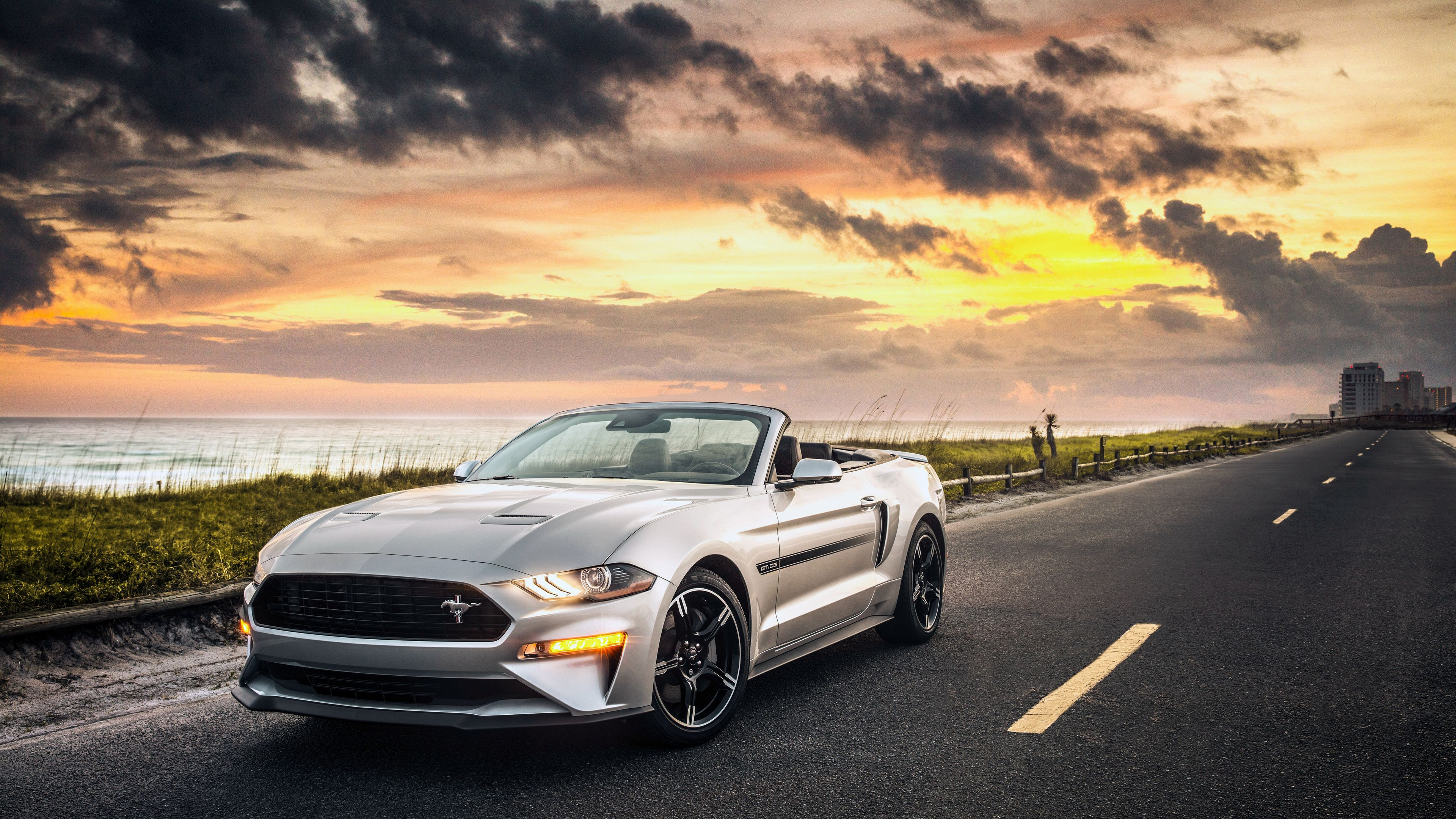 Ford Mustang Gt Convertible 2019 4k Mustang Wallpapers Hd